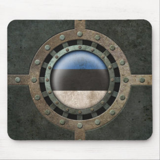 Industrial Steel Estonian Flag Disc Graphic Mouse Pad