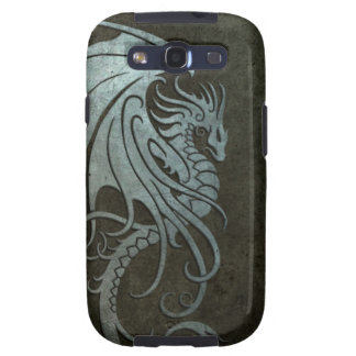 Industrial Steel Flying Dragon - left side Samsung Galaxy SIII Cover