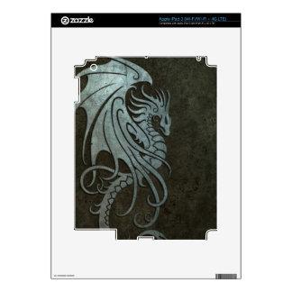 Industrial Steel Flying Dragon - left side Skins For iPad 3
