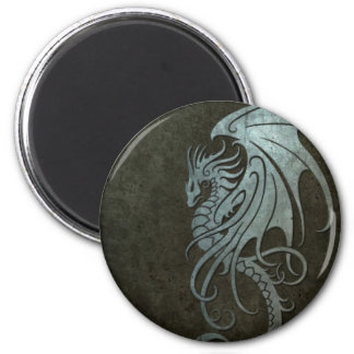 Industrial Steel Flying Dragon - right side 2 Inch Round Magnet