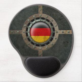 Industrial Steel German Flag Disc Graphic Gel Mouse Pad