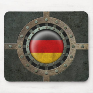 Industrial Steel German Flag Disc Graphic Mouse Pad