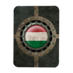 Industrial Steel Hungarian Flag Disc Graphic Flexible Magnets