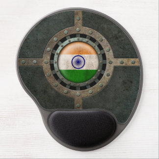 Industrial Steel Indian Flag Disc Graphic Gel Mouse Pad