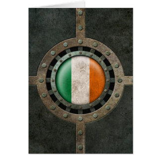 Industrial Steel Irish Flag Disc Graphic Card