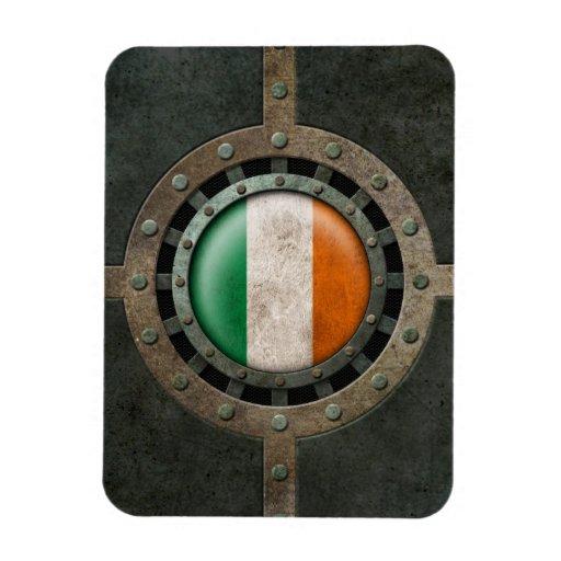 Industrial Steel Irish Flag Disc Graphic Flexible Magnets
