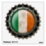 Industrial Steel Irish Flag Disc Graphic Room Graphic