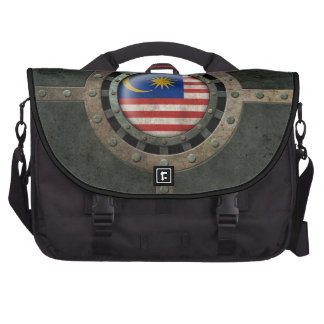 Industrial Steel Malaysian Flag Disc Graphic Commuter Bag