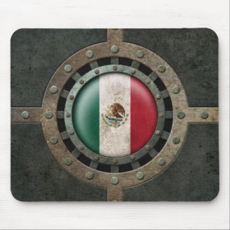 Industrial Steel Mexican Flag Disc Graphic Mouse Pad