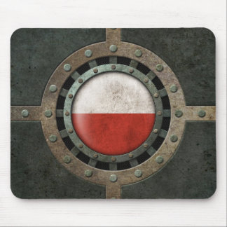 Industrial Steel Polish Flag Disc Graphic Mouse Pad