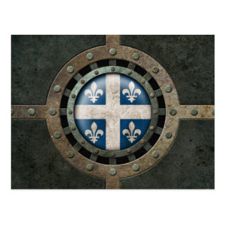 Industrial Steel Quebec Flag Disc Graphic Postcard