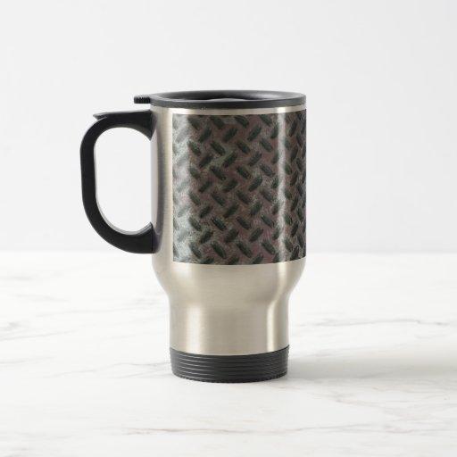 Industrial Steel Rusty Metal Textured Pattern Coffee Mug