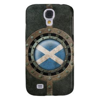 Industrial Steel Scottish Flag Disc Graphic Galaxy S4 Case