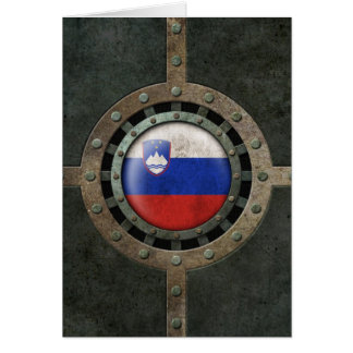 Industrial Steel Slovenian Flag Disc Graphic Card