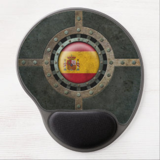 Industrial Steel Spanish Flag Disc Graphic Gel Mouse Pad