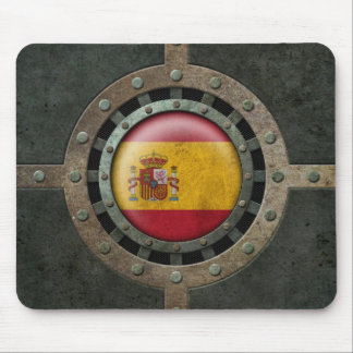 Industrial Steel Spanish Flag Disc Graphic Mouse Pad