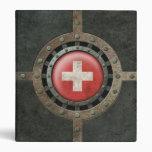 Industrial Steel Swiss Flag Disc Graphic 3 Ring Binder