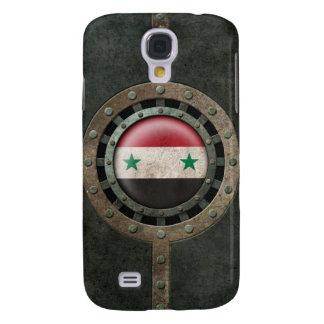 Industrial Steel Syrian Flag Disc Graphic Samsung Galaxy S4 Case