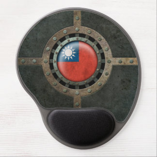 Industrial Steel Taiwanese Flag Disc Graphic Gel Mouse Pad
