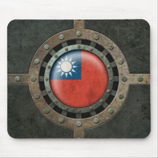 Industrial Steel Taiwanese Flag Disc Graphic Mouse Pad