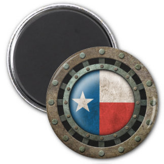 Industrial Steel Texas Flag Disc Graphic Magnet