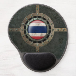 Industrial Steel Thai Flag Disc Graphic Gel Mouse Pad