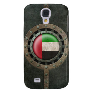 Industrial Steel UAE Flag Disc Graphic Samsung Galaxy S4 Cover