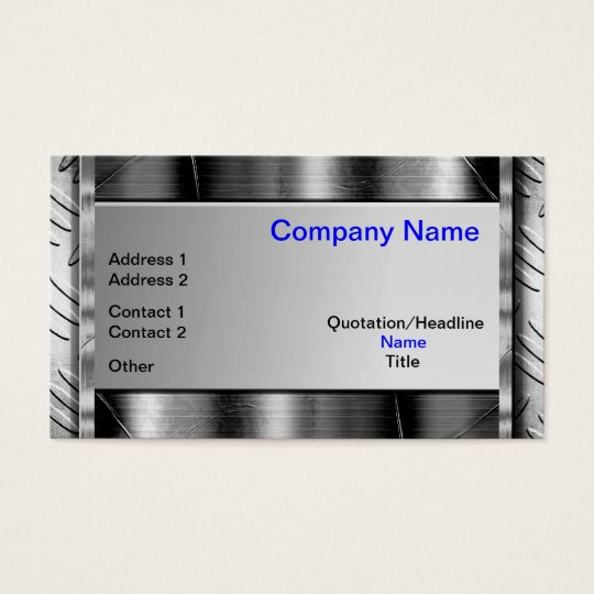 Industrial Strong Metal Look Business Cards