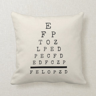Industrial Style Decorative Throw Pillow Eye Chart