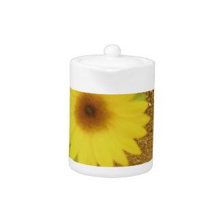 Industrial Sunflower Teapot
