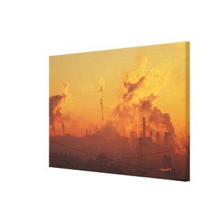 Industrial sunrise gallery wrap canvas