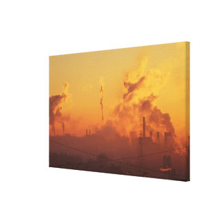Industrial sunrise canvas print