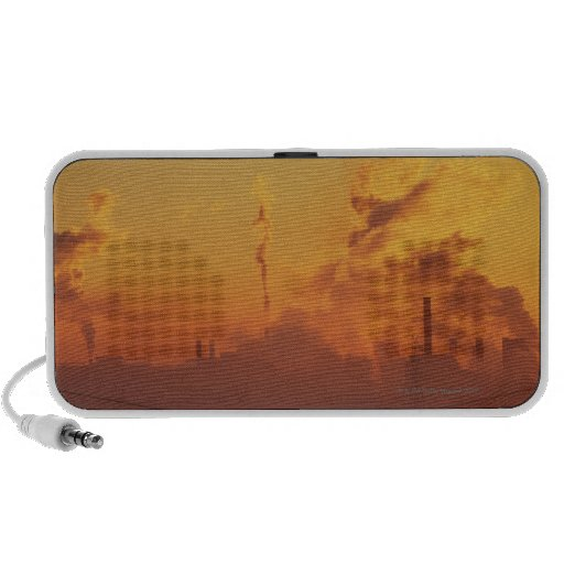 Industrial sunrise travel speakers