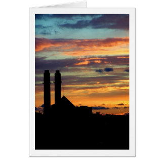 Industrial Sunset Stationery Note Card