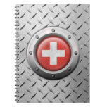 Industrial Swiss Flag with Steel Graphic Note Book