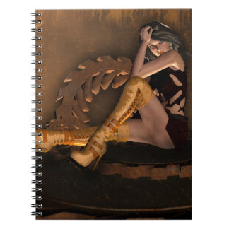 Industrial Syn Steampunk Gothic Girl™ Note Book