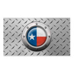 Industrial Texas Flag with Steel Graphic Double-Sided Standard Business Cards (Pack Of 100)