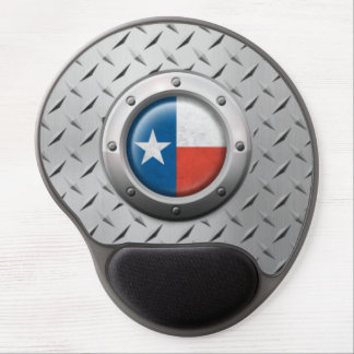 Industrial Texas Flag with Steel Graphic Gel Mouse Pad