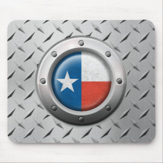 Industrial Texas Flag with Steel Graphic Mouse Pad