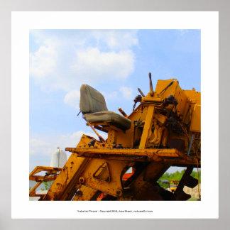 Industrial Throne - fun rustic construction art Poster