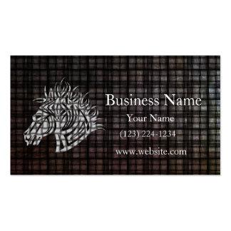 Industrial Tribal Horse Head Business Card