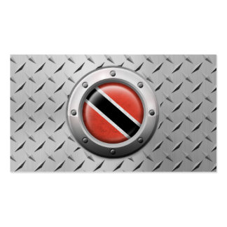 Industrial Trinidadian Flag with Steel Graphic Double-Sided Standard Business Cards (Pack Of 100)