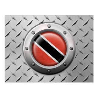 Industrial Trinidadian Flag with Steel Graphic Postcard