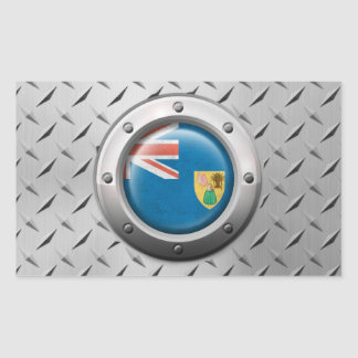 Industrial Turks and Caicos Flag Steel Graphic Stickers
