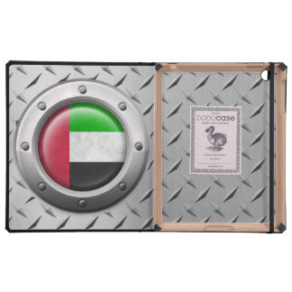 Industrial UAE Flag with Steel Graphic iPad Covers