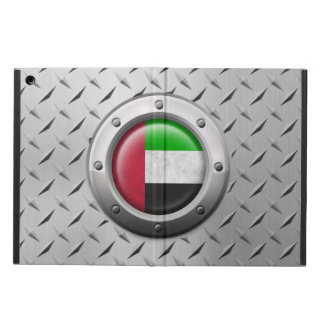 Industrial UAE Flag with Steel Graphic iPad Air Cases