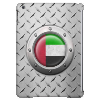 Industrial UAE Flag with Steel Graphic iPad Air Covers