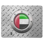 Industrial UAE Flag with Steel Graphic Journal