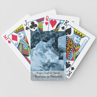 industrial valve blue steampunk image bicycle playing cards