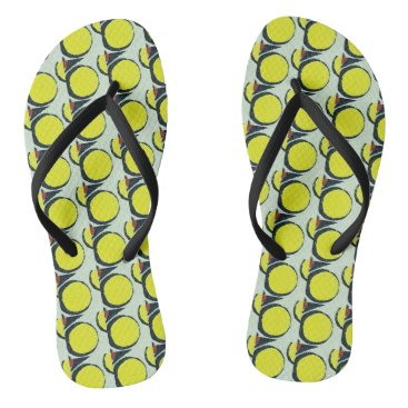 Beach Themed Industrial Vibe Flip Flops